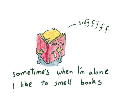 smell books